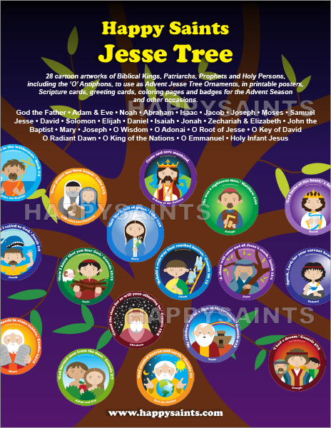 photo about Jesse Tree Symbols Printable named Joyful Saints: Content Saints Jesse Tree