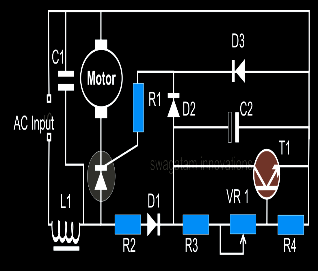 Closed Loop Single Phase AC Motor Speed Controller Circuit