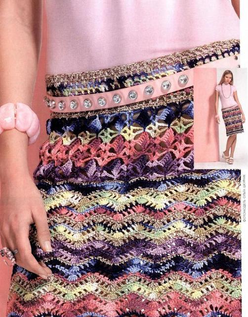 Falda Ondas de Crochet Patron