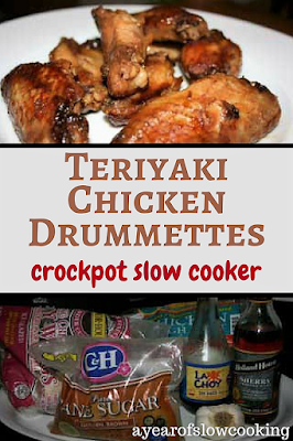 Make as a dinner or as an appetizer -- chicken teriyaki drumettes in the crockpot slow cooker is a great way to cook a bunch of chicken at once. If you don't want to have bones, opt for chicken thighs.
