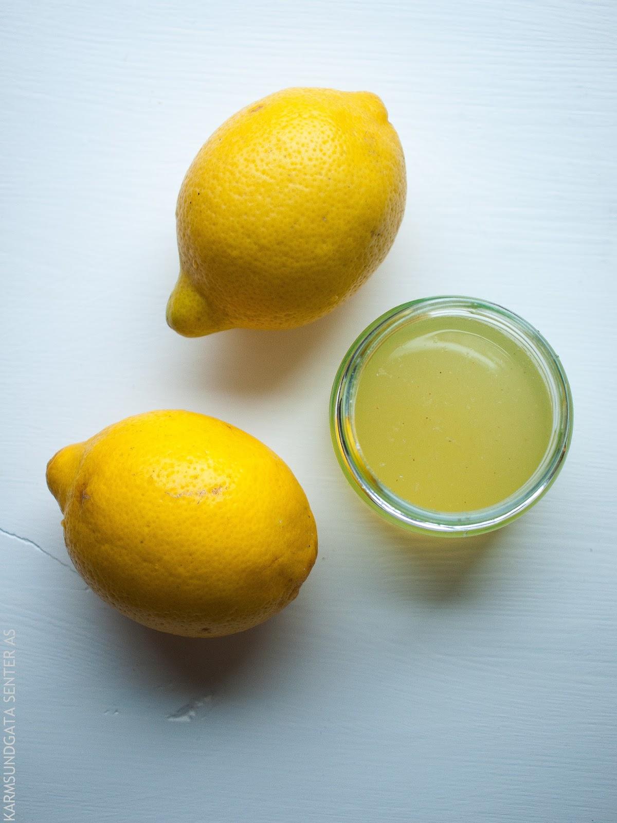 Sitronsirup oppskrift