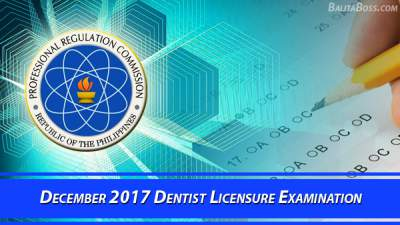 Dentist December 2017 Board Exam