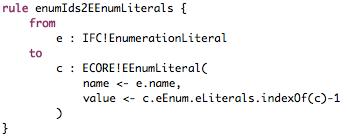 Enumeration Transformation Rule