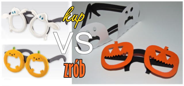 Halloweenowe okulary DIY z papieru