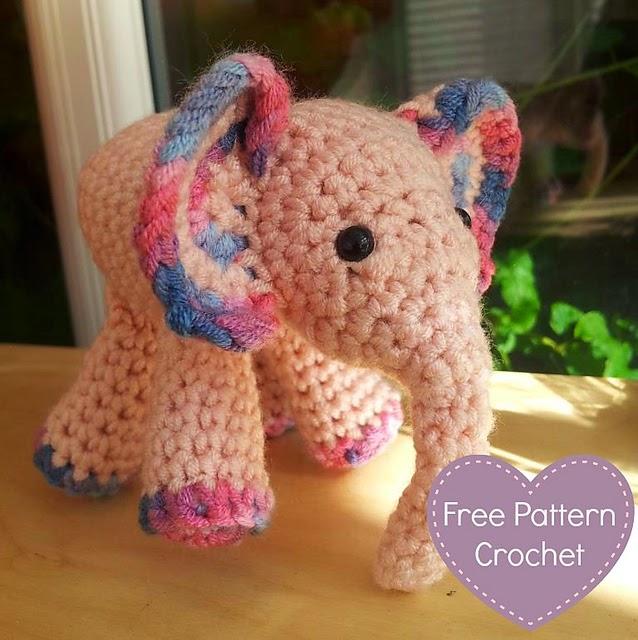 Ravelry: Elephant pattern by Vanessa Mooncie | 640x638