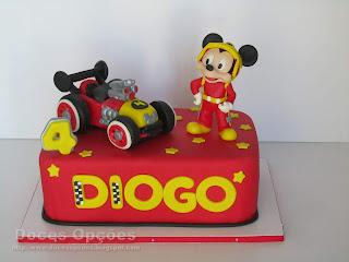 Bolo de aniversário Mickey e os Superpilotos