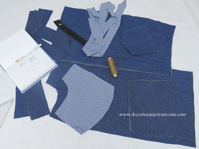 proceso de confección falda vaquera