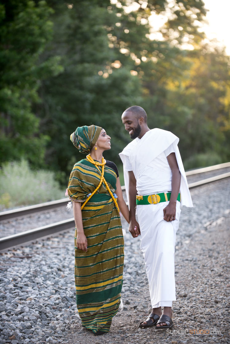 Ann Arbor Engagement Session Ethnic Style - SudeepStudio.com