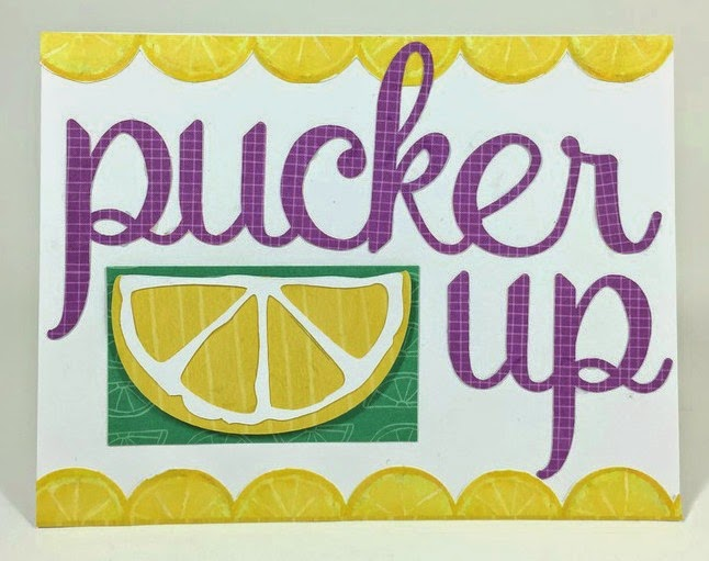 Cricut Pucker Up card