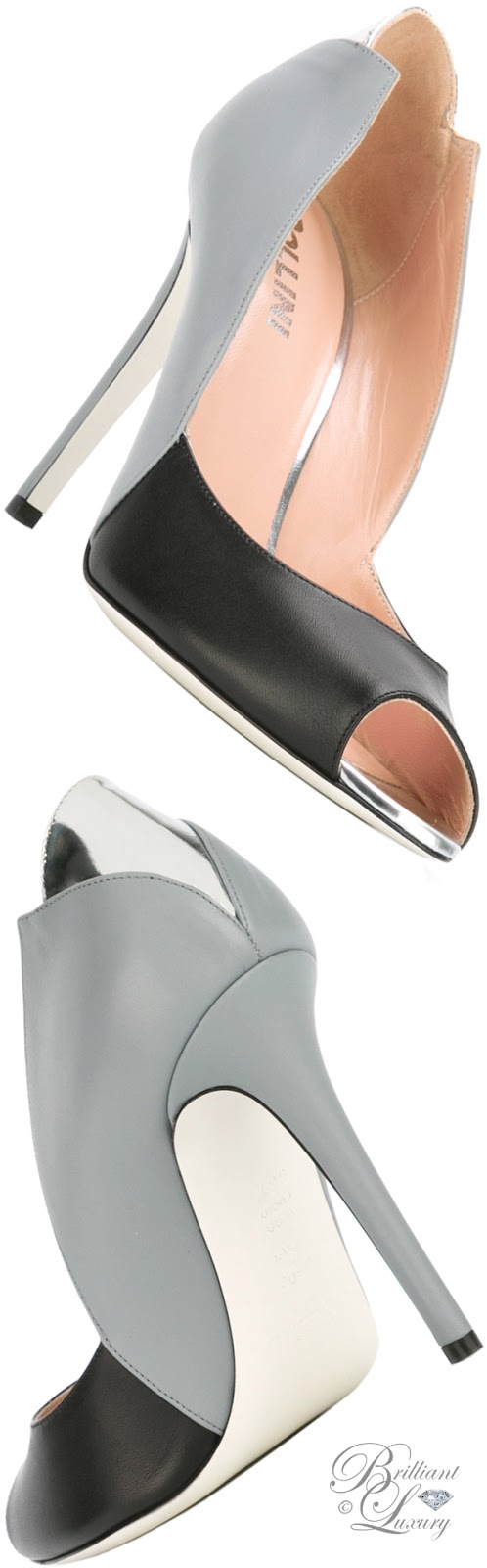 Brilliant Luxury ♦ Pollini Contrast Sandals