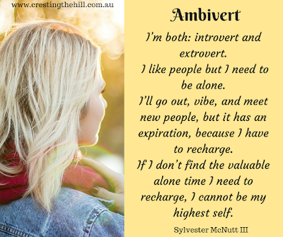I'm both: introvert and extrovert. I like people but I need to be alone. Sylvester McNutt III