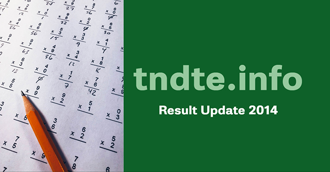 TNDTE Diploma Results April 2014