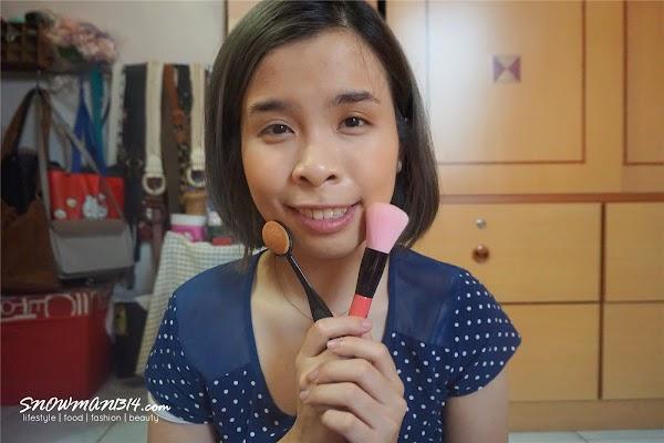 Test and Try - Pro Skin-adhering Foundation Brush & Heart Shape Brush