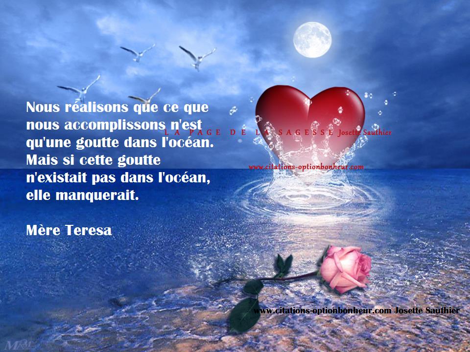 La Page De La Sagesse Citation De Mère Teresa