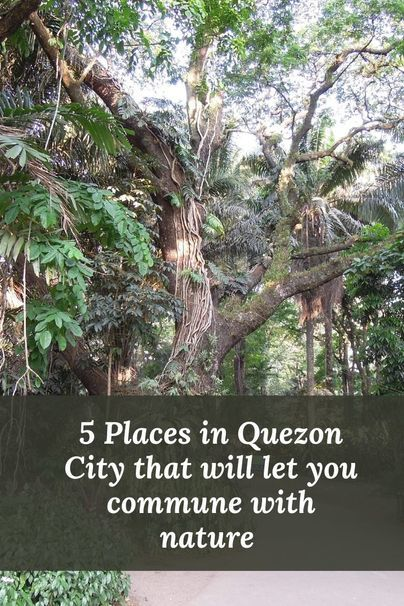 Places in Quezon City for communing with nature