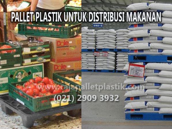 Pallet plastik untuk distribusi makanan