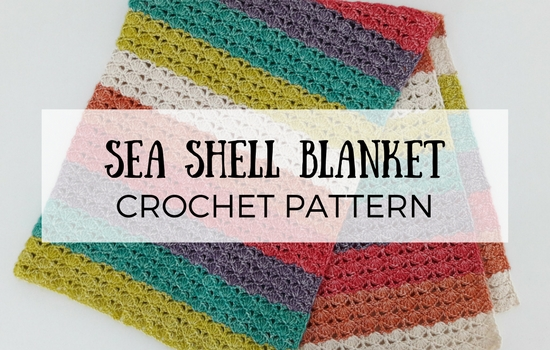 Sea shell blanket, crochet pattern | Happy in Red