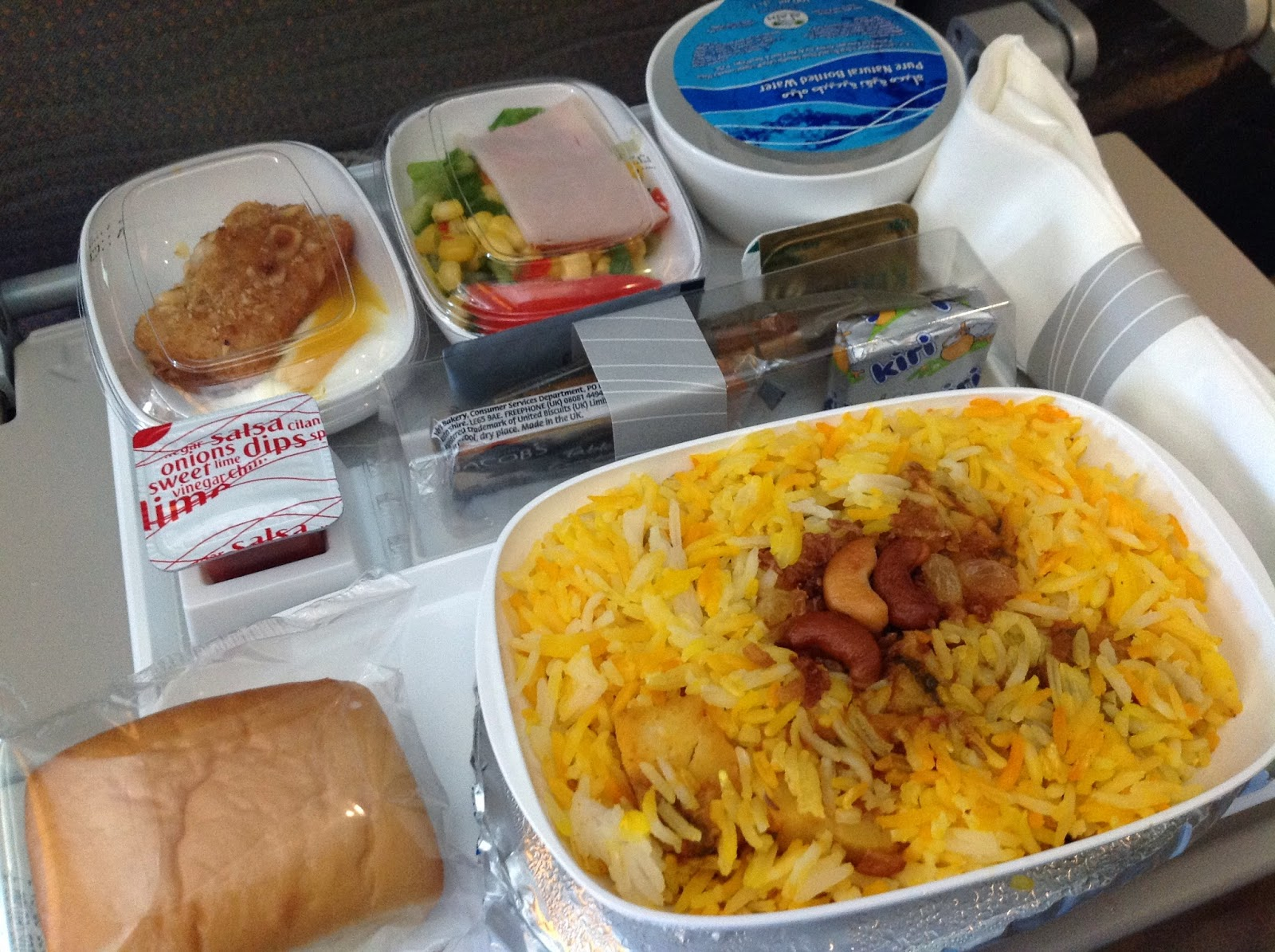 Emirates-EK059-in-flight-meal-lunch エミレーツの機内食(昼食)