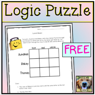 free logic puzzle for early grades
