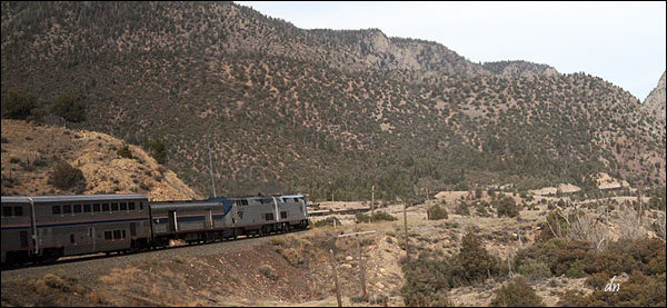California Zephyr and the Rocky Mountains.