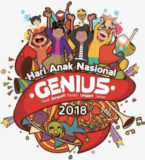 Hari Anak Nasional Indonesia 2018: GENIUS - Harus Tumbuh Menjadi Anak Jenius