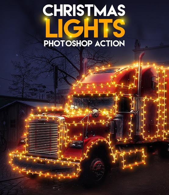 Lampu/ Cahaya Natal Photoshop Action