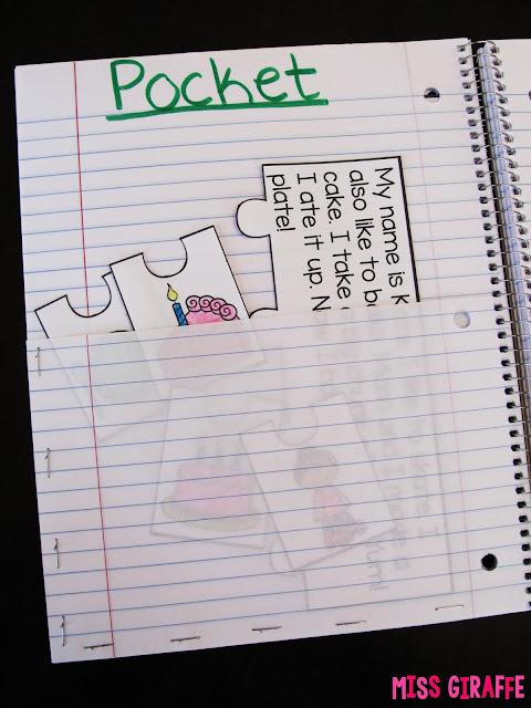 Create a pocket to store notebooking materials when using interactive notebooks (and more ideas at the link!)