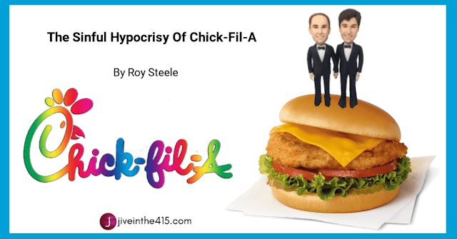 Chick-fil-a rainbow logo and Chick-fil-a Chicken Sandwich Deluxe with a two Bridegroom Topper