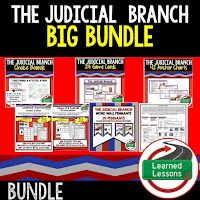 Judicial Branch, Civics Mega Bundle, Government Mega Bundle, Civics and Government Curriculum, Anchor Charts, Games, Digital Interactive Notebook, Google Classroom, Word Wall, Choice Boards, Guided Notes, PowerPoints, Test Prep, Document Based Questions