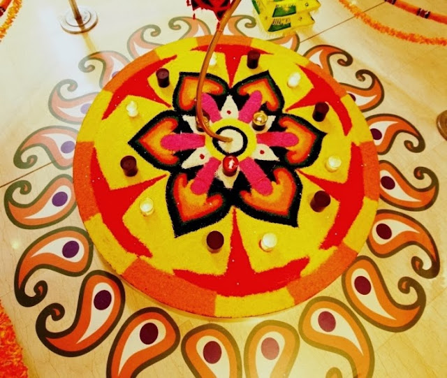 Deepavali, Pavilion KL, festival of light, kolam, making kolam, indian culture