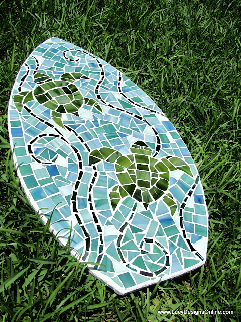 sea turtle surfboard art