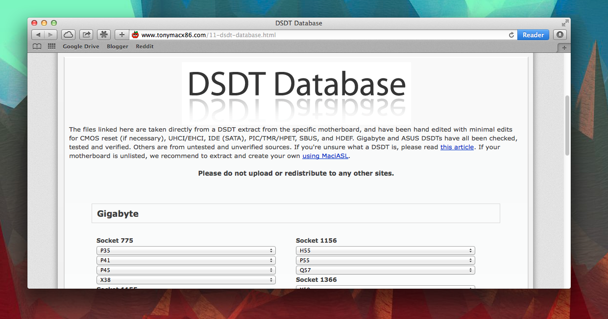 How to edit your own DSDT with MaciASL