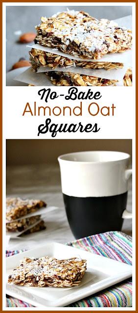 No-Bake Almond Oat Squares