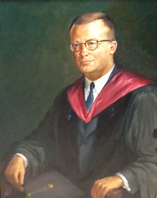 Quirk painting of Colby College President Robert Strider