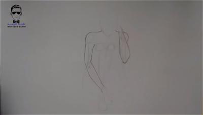 طريقة رسم جسم بالرصاص