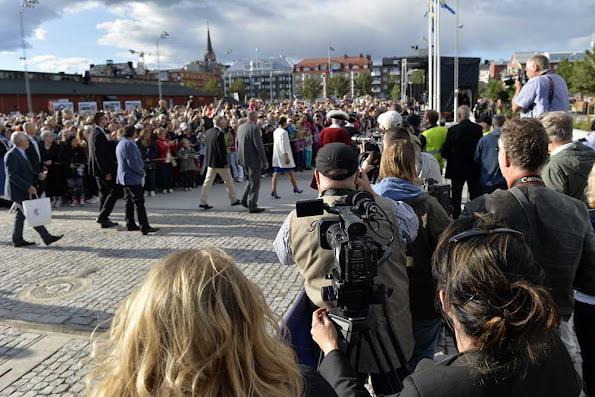 Crown Princess Victoria inaugurated the 'Södra hamnplanen' dock