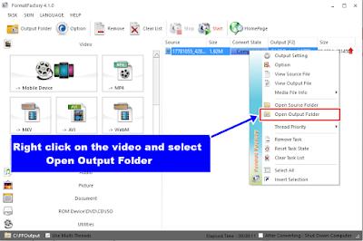 Format Factory - Output Folder