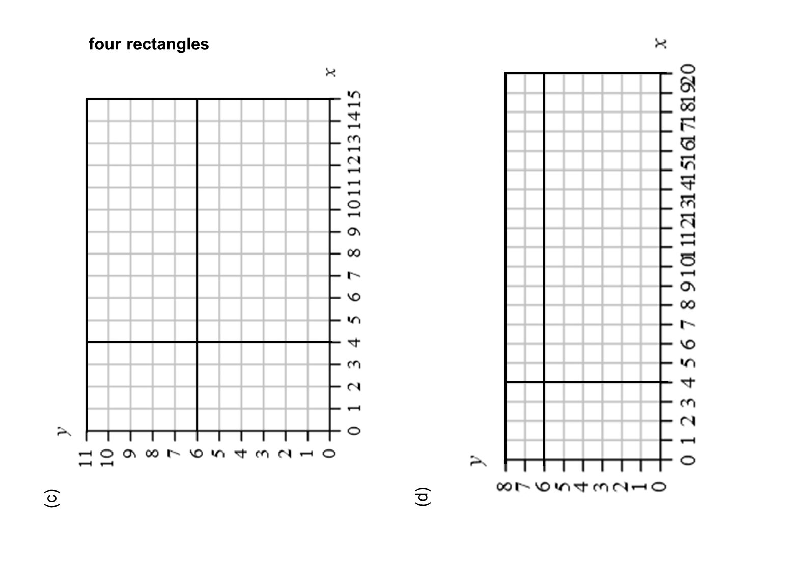 MEDIAN Don Steward mathematics teaching: four rectangles