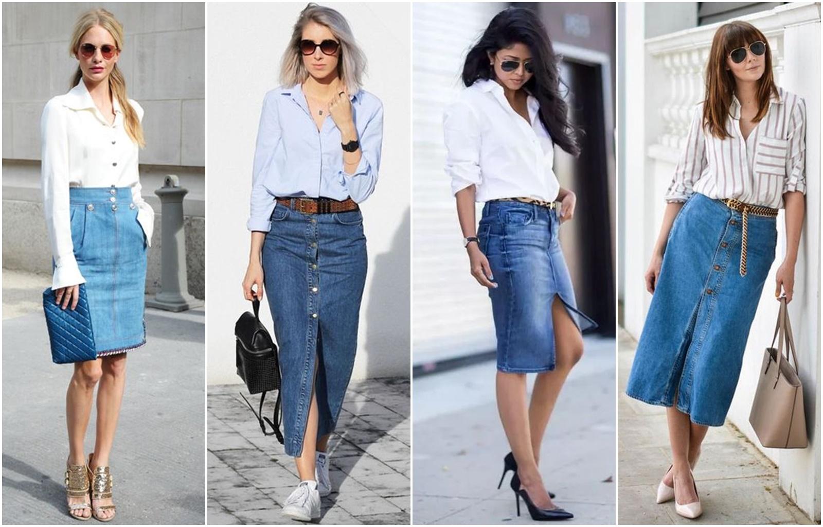 Como usar saia jeans - Blog Cris Felix
