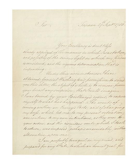 John Andre S Letter To Washington