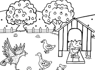 Jobs Coloring Kids: Farm Coloring Pictures