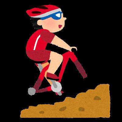 オリンピックのイラスト「マウンテンバイク」