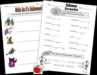 https://www.teacherspayteachers.com/Product/Free-Halloween-Worksheets-101421