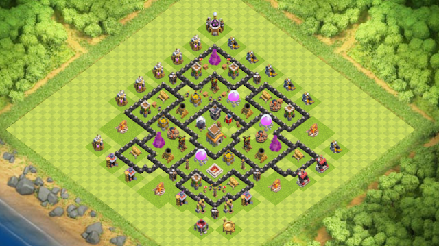 Base Farming TH 8 Terbaru 2016
