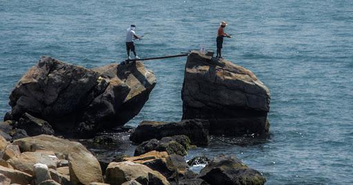 Fishermen at Bluff Point