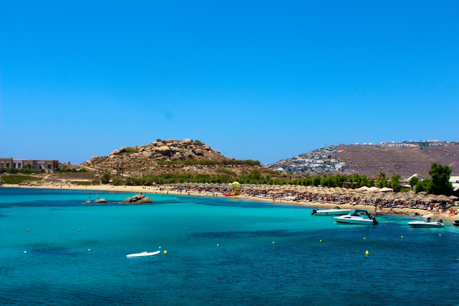 Best Island Beaches For Partying Mykonos St Barts: Nemo's Great Adventure: PSAROU BEACH & PARADISE BEACH