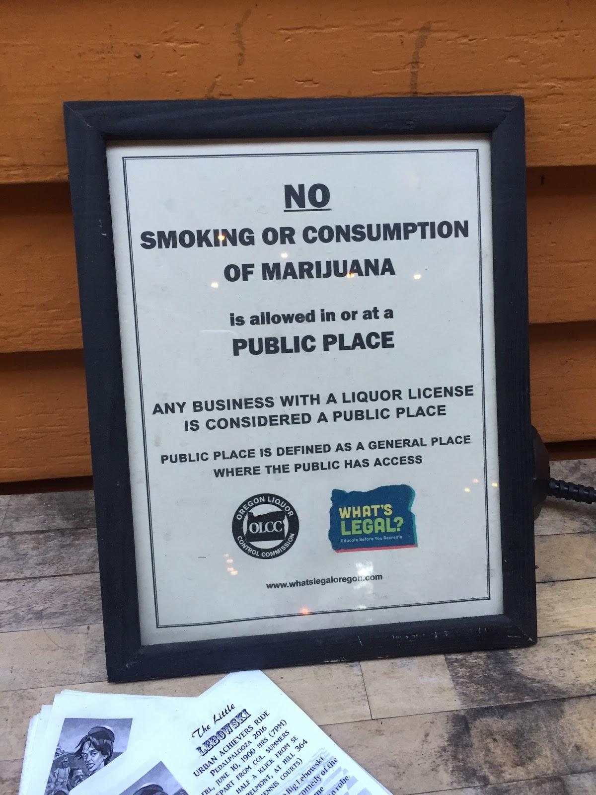 I got a ticket for smoking in Portland?