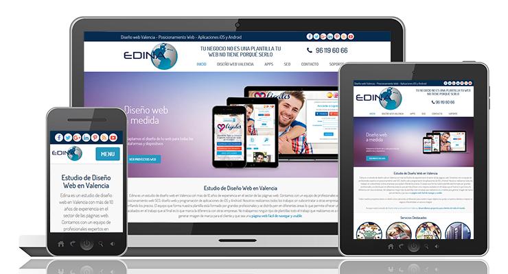 Nuevo diseño web de Edina