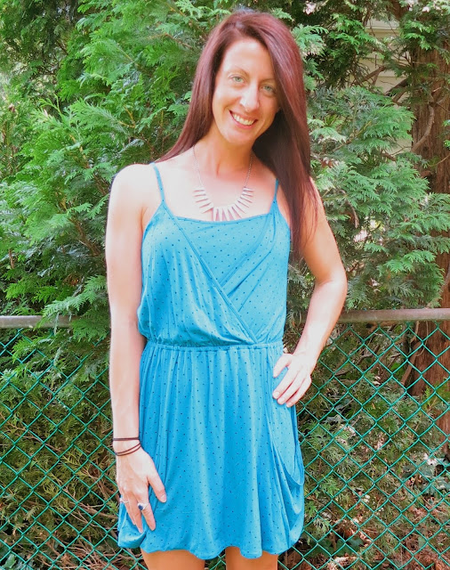 Blue Polka Dot Summer Dress Outfit