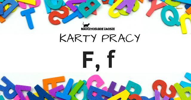 karty pracy litery klasa 1 f jak farby